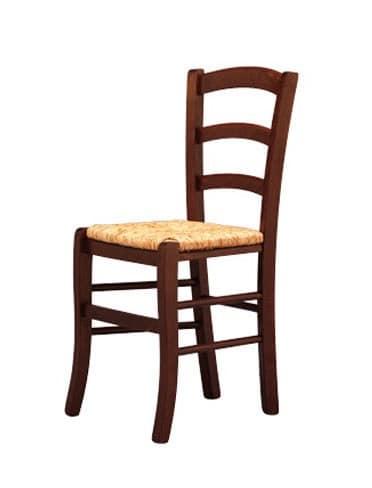 207, Sedia solide, in legno, seduta in paglia, per birreria