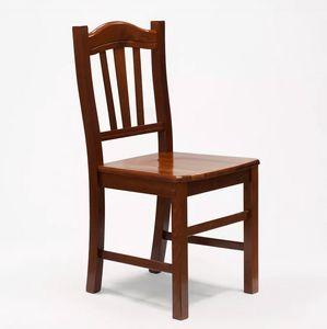 Sedia in legno in stile arte povera per sala da pranzo e cucina Silvana SS016NOC, Sedia rustica in legno