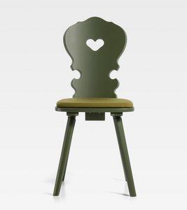 Vienna, Sedia in legno, dal design tradizionale