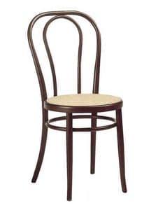 01, Sedia viennese in legno, diverse tinte e sedute