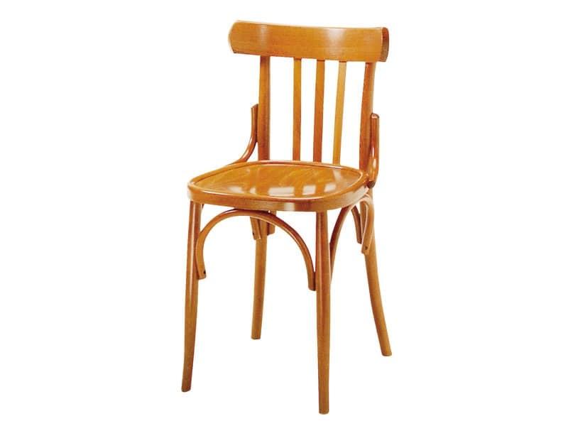 093, Sedia in legno per bar e pub, stile antico