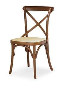 Ciao W, Sedia in legno di faggio, seduta in paglia di Vienna
