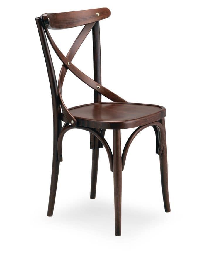 Croce 1, Sedia in legno di faggio, per uso residenziale
