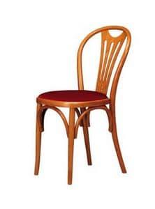 V04, Sedia in legno di faggio curvo, sedile in vari materiali