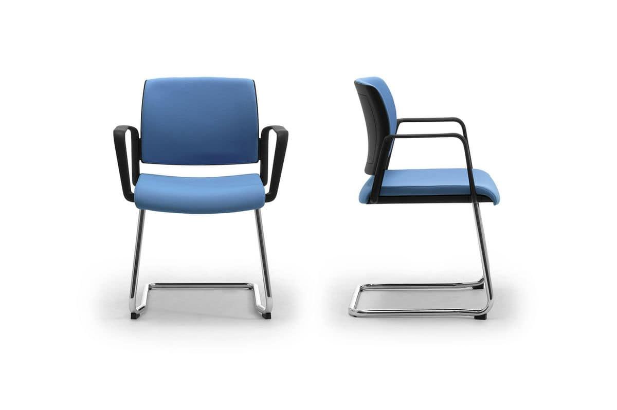 Wiki relax, Visitatore ufficio con seduta imbottita e schienale in rete
