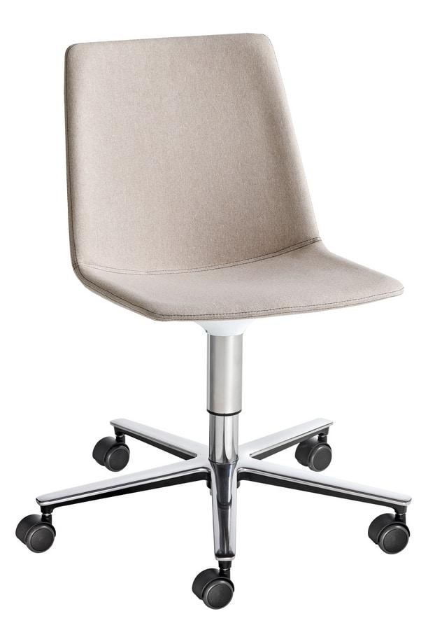 Akami T5R, Sedia con base a 5 ruote, regolabile in altezza