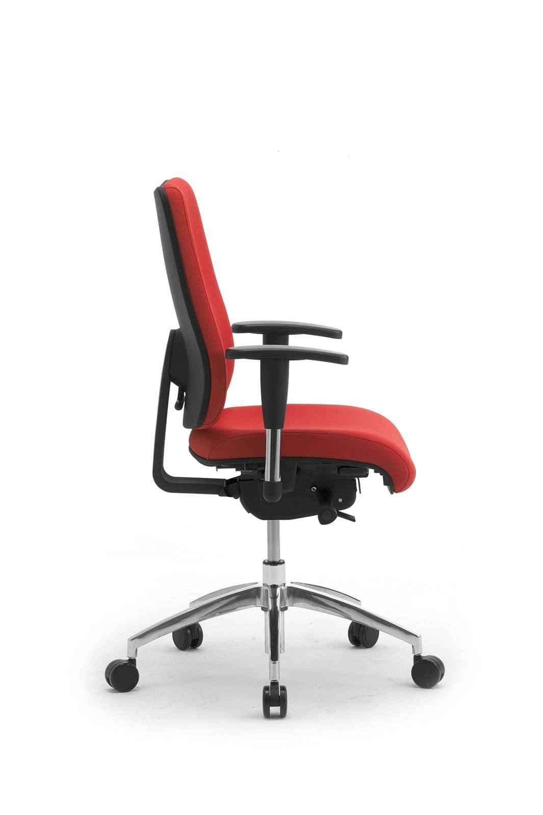 DD 2 operativa 53722, Sedia operativa da ufficio,seduta e schienale imbottiti