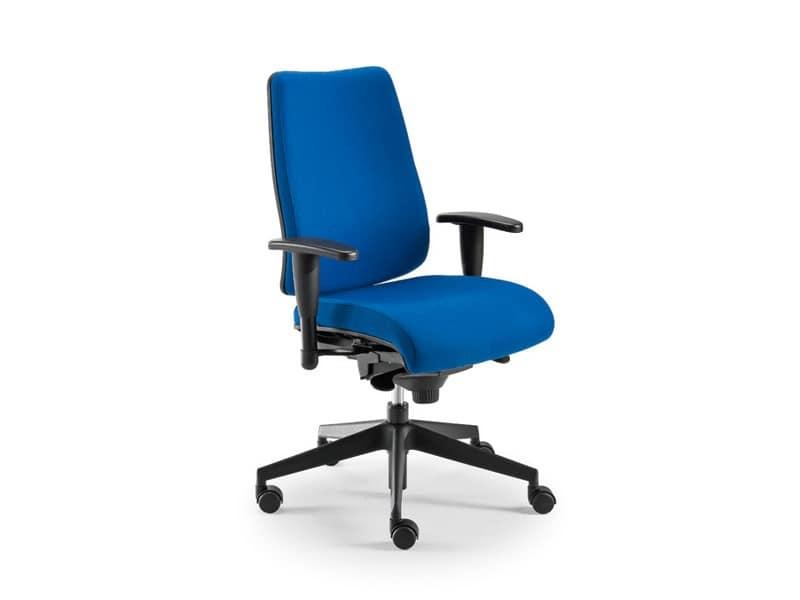 DD 2 operativa 53732, Sedia per ufficio con seduta e schienale imbottiti