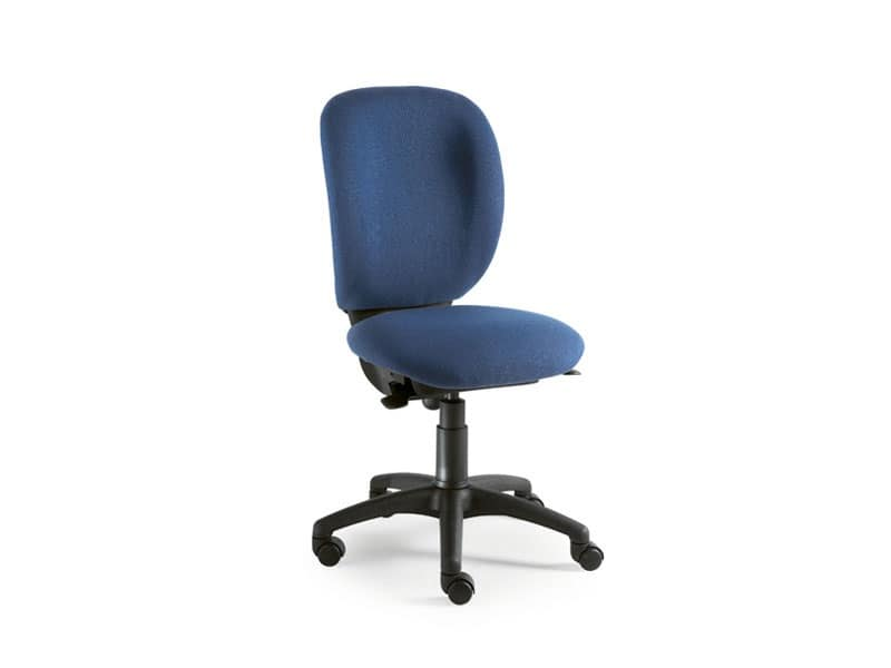 Gummy operativa 0960, Sedia per ufficio senza braccioli, schienale alto