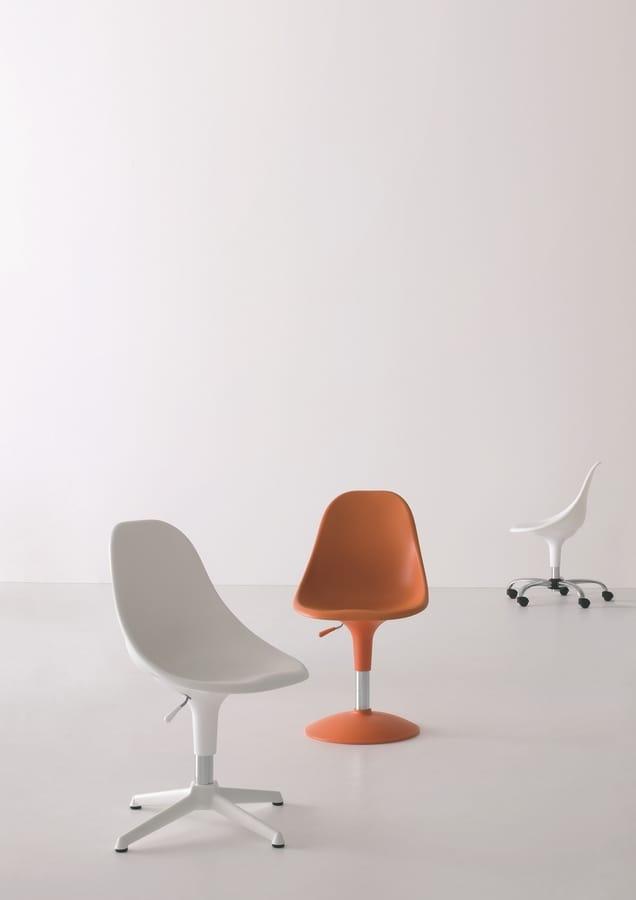 Harmony BC, Sedia con ruote, in vari colori, per ufficio