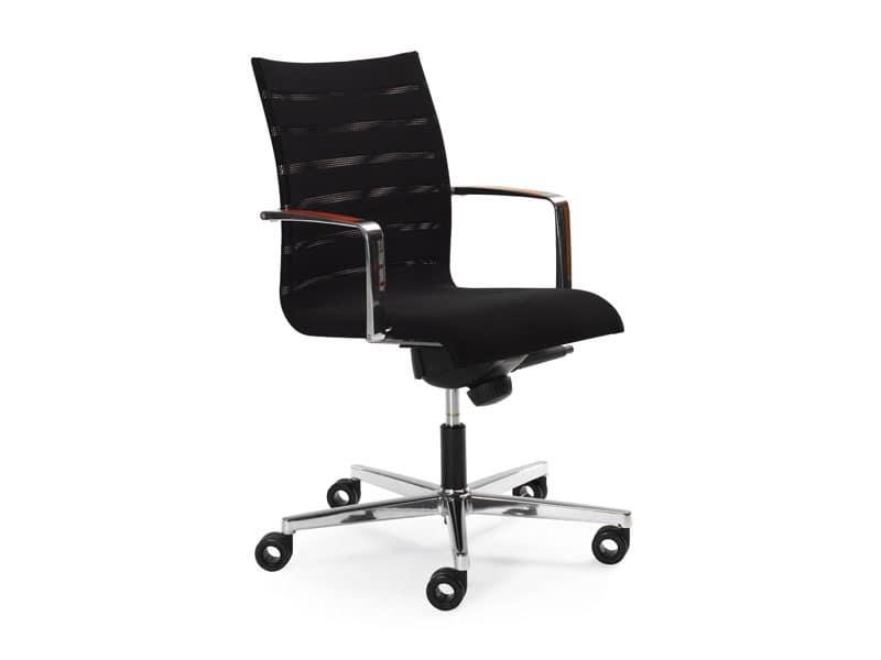 Sentrum 05/2A, Sedia per ufficio, altezza e schienale regolabili