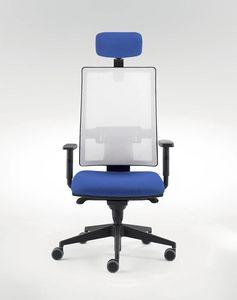 UF 491 / A, Sedia per ufficio moderno, con sistema di traslazione