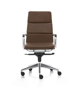 Aalborg Soft 01, Sedia direzionale con schienale alto, per ufficio