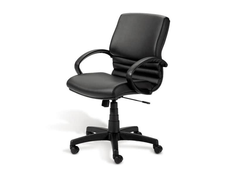 Digital 02, Sedia direzionale, base in alluminio lucido, per ufficio