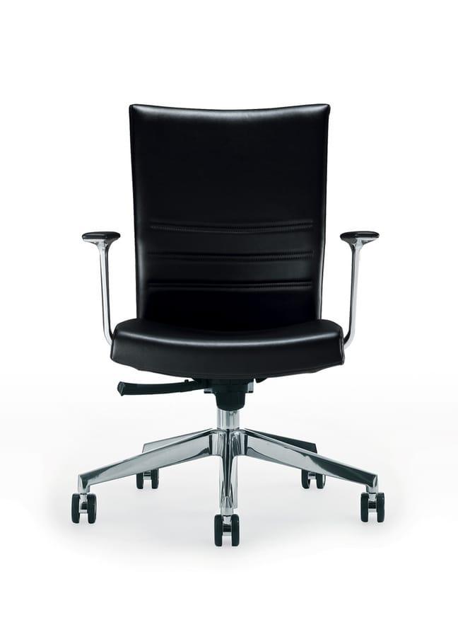 King, Sedia direzionale con schienale alto, con rotelle