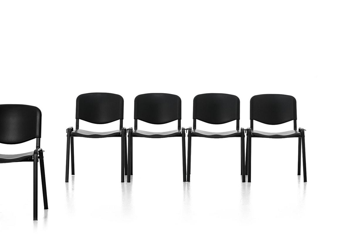 Leo Plastic, Sedia in metallo, seduta e schienale in polipropilene