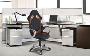 Poltrona sedia ufficio racing Race � SU130RAC, Poltrona per ufficio stile racing sport