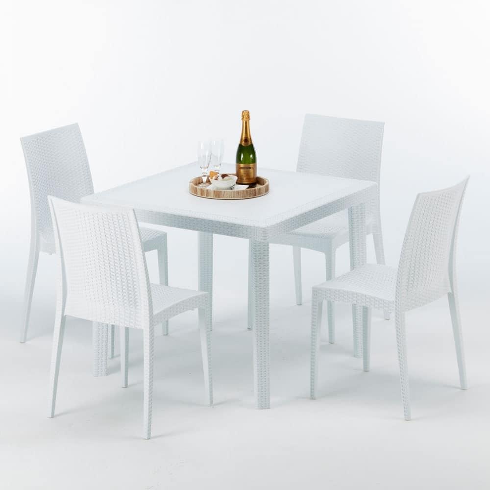 Tavolino In Polyrattan Per Ristoranti E Giardini Idfdesign