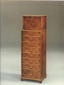 2350 SETTIMANALE, Settimanale in legno per camere da letto in stile classico