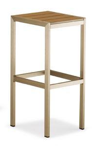 SG 708, Sgabello senza schienale con seduta quadrata