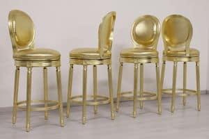 Rotondo girevole, Sgabello con seduta girevole, finitura oro