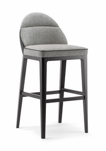 ASTON BAR STOOL 062 SG, Sgabello dal design lineare e semplice