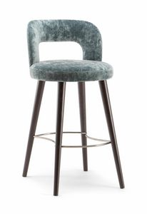 HOLLY BAR STOOL 065 SG, Sgabello dalle forme morbide