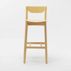 Nico stool, Sgabello in legno con schienale