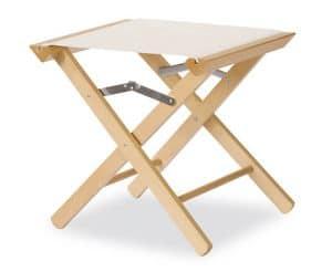 Sgabello P, Sgabello basso, in legno resistente, per ogni uso