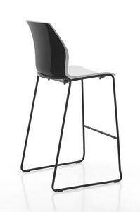 Kalea stool slitta, Sgabello in polipropilene, con base a slitta