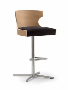XIE BAR STOOL 052 SG X, Sgabello con base a croce
