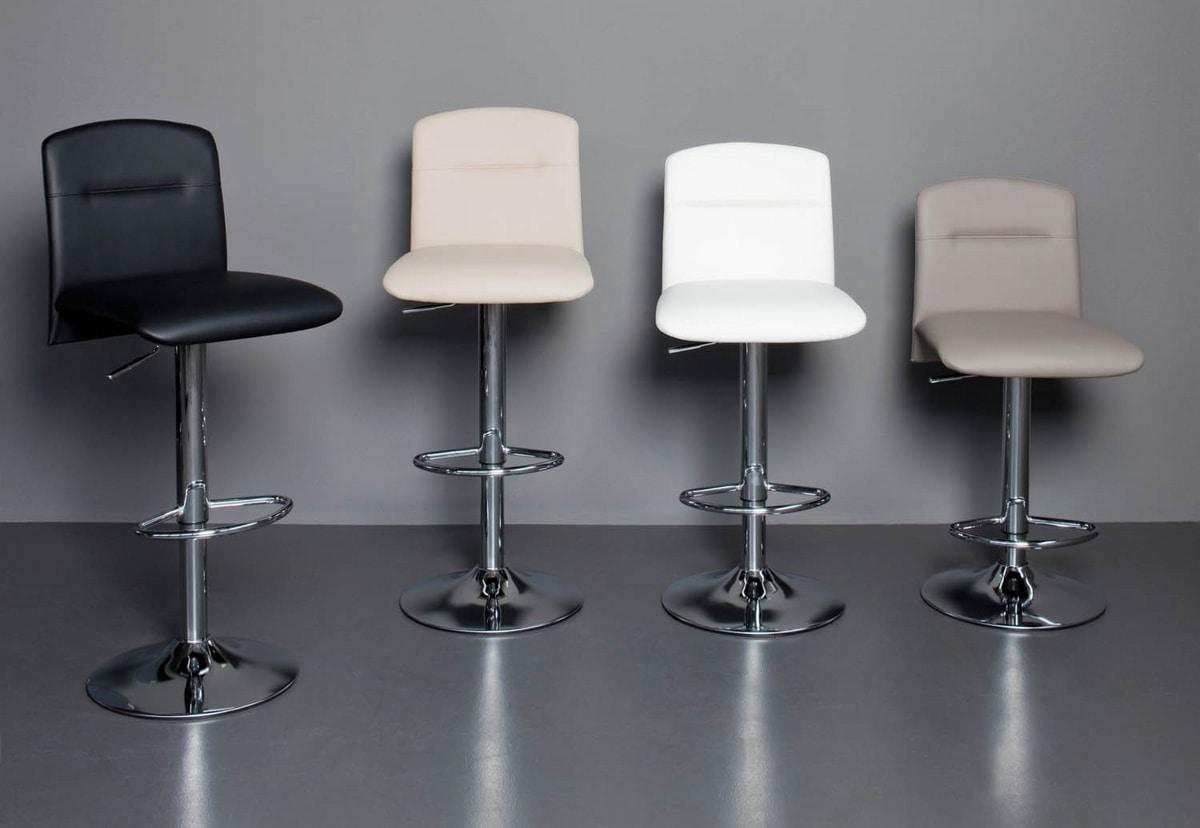 Samba SG, Sgabelli regolabili in altezza con seduta e schienale imbottiti
