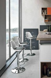 STOCCOLMA SG137, Sgabello moderno per bar e cucina
