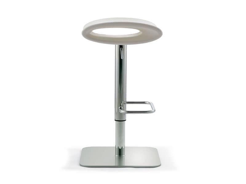 Ipanema adjustable, Sgabello girevole e regolabile, seduta in polietilene colorato, per lounge bar