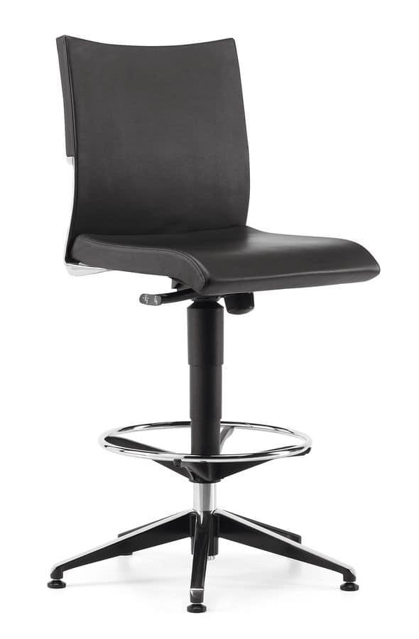 AVIA 4150, Sgabello alto per ufficio professionale, con poggiapiedi