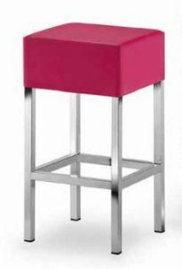 Cube-T, Sgabello imbottito, con seduta quadrata