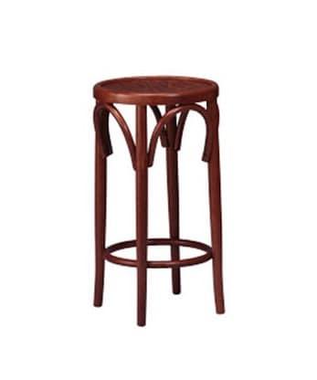 125, Sgabello con seduta tonda, in legno curvo, per ristorante