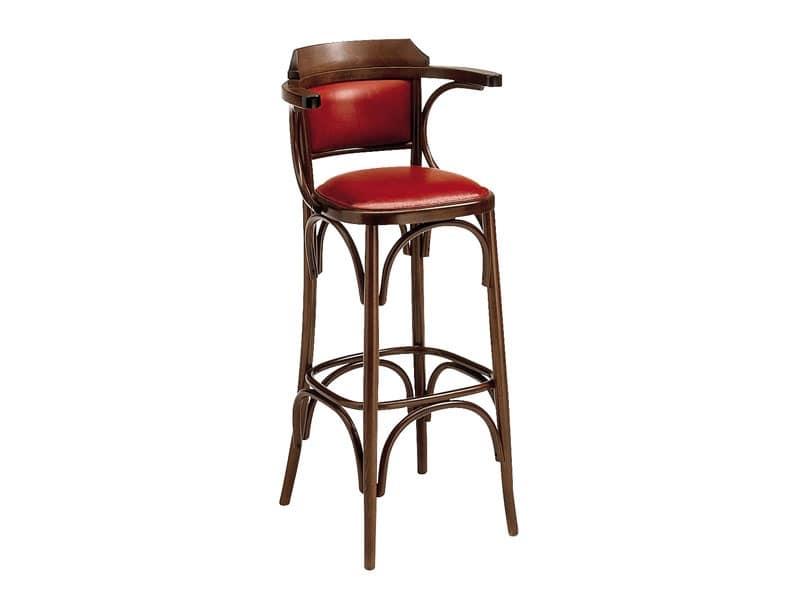 SG/600/imb, Sgabello alto in legno curvato, per pub e bar