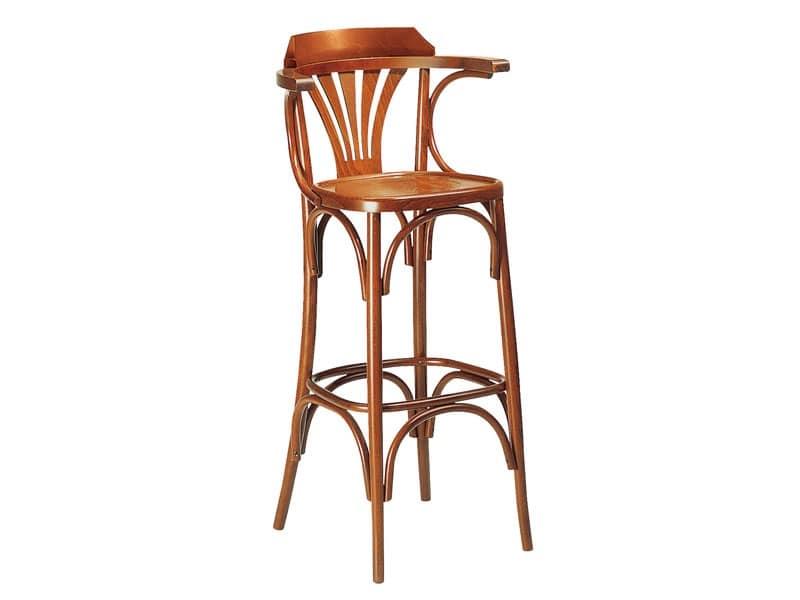SG/600, Sgabello alto in legno, per bar, pub e ristoranti