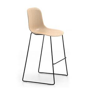 Máni Wood ST-SL, Sgabello impilabile con seduta in legno