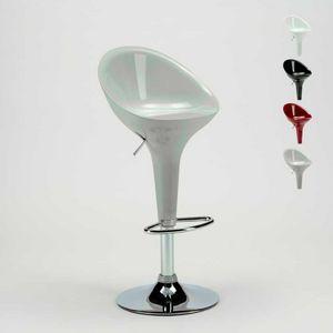 Sgabello bar e cucina con penisola cromato girevole SAN DIEGO Design moderno - SGA800SDG, Sgabello alto regolabile in altezza