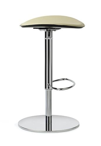 ZIP 190, Sgabello con sedile in cuoio