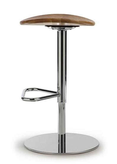 ZIP 191, Sgabello con sedile in rovere