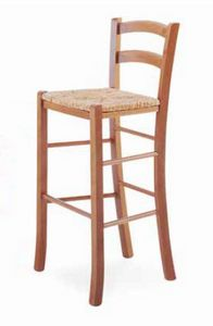 Paesana-A B, Sgabello rustico, con seduta in paglia