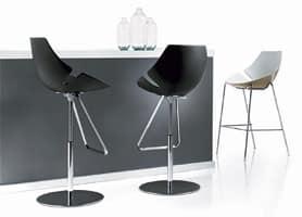 Eon sgabello fisso, Sgabello in metallo, in vari colori, per reception