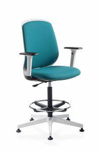 Key Smart stool, Sgabello imbottito, per ufficio e reception
