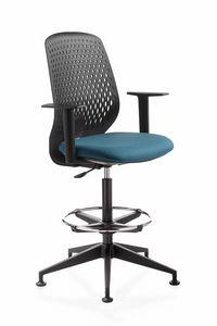 Key Smart stool, Sgabello girevole, per ufficio e reception