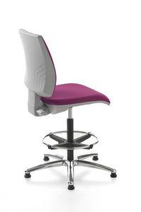 Kubix stool, Sgabello per reception, girevole e regolabile