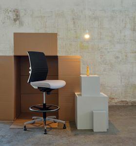 Omnia White Plus Stool 02, Sgabello reception ufficio