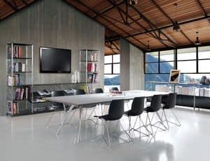 Socrate sala riunione, Arredamento componibile per sale riunione e uffici
